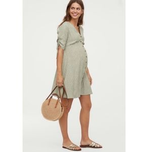 H&M Mama Creped Floral Maternity Knee Length Dress